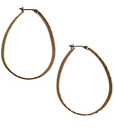 """Earrings, Medium 1-3/4"""" Oblong Hoop"""