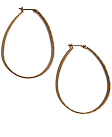 Lucky Brand Earrings, Medium Oblong Hoop