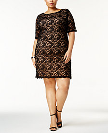 Connected Plus Size Lace Dress