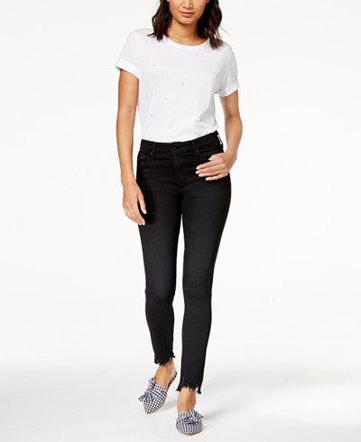 AG Farrah Skinny Ankle Black Denim - High Rise Skinny Ankle