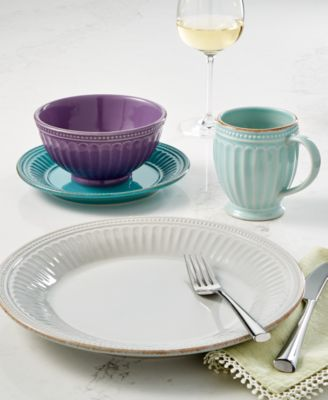 Lenox French Perle Groove Collection & Lenox French Perle Groove Collection - Dinnerware - Dining ...