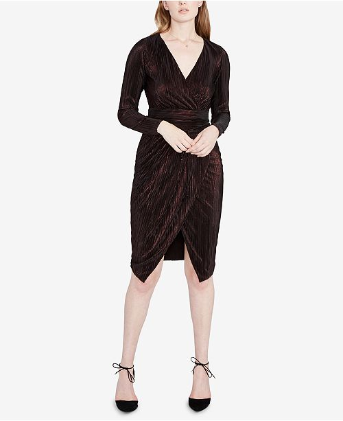 Rachel Roy Discount Gowns: RACHEL Rachel Roy Metallic Faux-Wrap Dress & Reviews