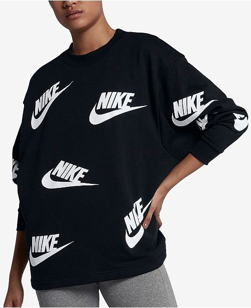 b9dfde22 Nike Sportswear Futura Logo-Print Long-Sleeve Top & Reviews - Tops ...