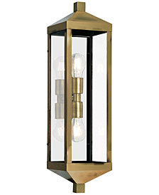 Livex Nyack 2-Light Outdoor Wall Lantern