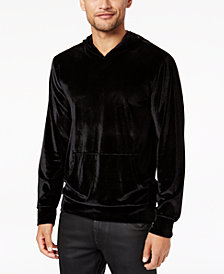 GUESS Men's Velvet Pullover Stretch Hoodie