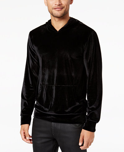 GUESS Men's Velvet Pullover Stretch Hoodie - Hoodies & Sweatshirts ...