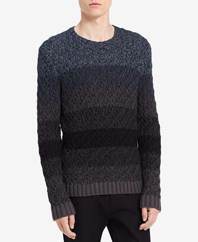 Calvin Klein Jeans Men's Ombré Cable Sweater