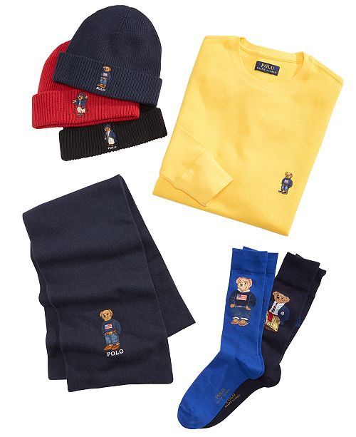 Polo Ralph Lauren Polo Bear Collection Hats Gloves Scarves