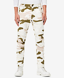 G-Star RAW Men's 5620 3D Slim-Fit Stretch Camouflage-Print Jeans