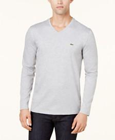 Lacoste Men's V-Neck Long Sleeve Jersey T-Shirt