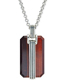 Red Tiger's Eye Pendant Necklace in Sterling Silver, Created for Macy's