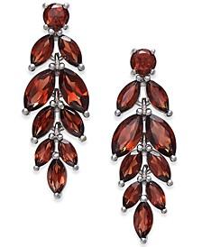 Amethyst Vine Drop Earrings (5-3/4 ct. t.w.) in Sterling Silver (Also Available In Blue Topaz, Garnet, Mystic Quartz, Peridot and Multi Gemstone)