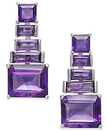 Amethyst Ladder Drop Earrings (7 ct. t.w.) in Sterling Silver