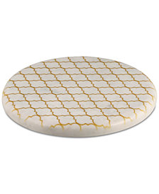 CLOSEOUT! Thirstystone Marble Trivet with Gold-Tone Pattern