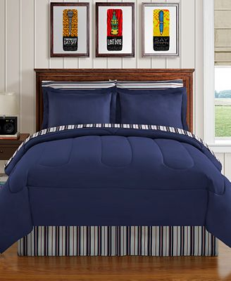 Navy Yard 8-Pc. Reversible Bedding Ensembles