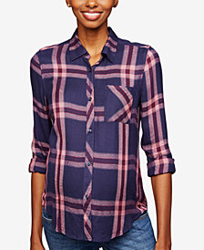 RAILS Maternity Plaid Button-Front Shirt