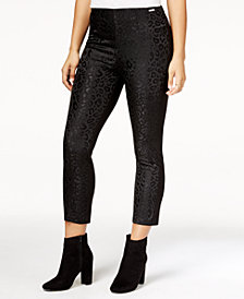 GUESS Mariette Embossed-Front Pants