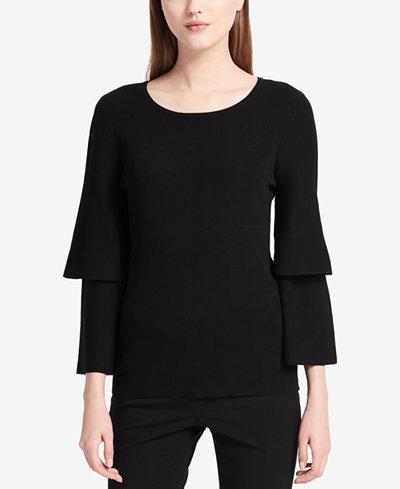 Calvin Klein Tiered-Sleeve Sweater