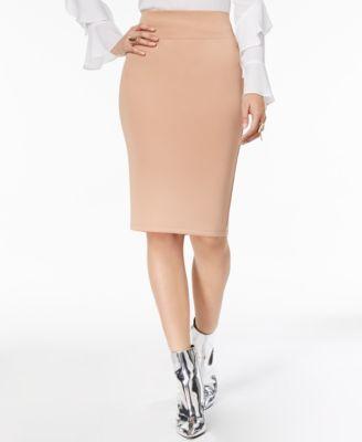 4b1ff9d251865f Thalia Sodi Embroidered Mesh Knit Top   Scuba Pencil Skirt
