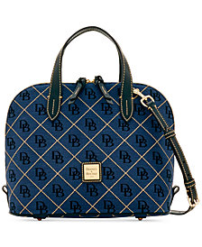 Dooney & Bourke Signature Quilt Zip Zip Satchel, Created for Macy's