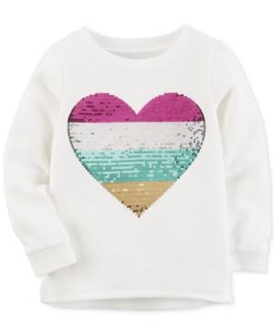 Carters SequinHeart Sweatshirt Toddler Girls (2T4T)