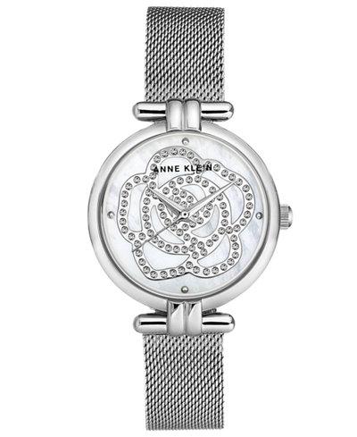 Anne Klein Women's Stainless Steel Mesh Bracelet Watch 33mm