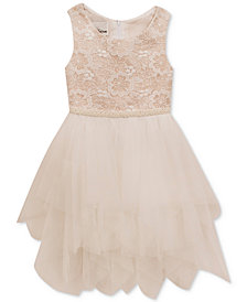 Rare Editions Embroidered-Bodice Dress, Toddler Girls