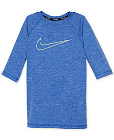 Nike Heathered Hydro Guard Rash Guard Swim Top, Big Boys