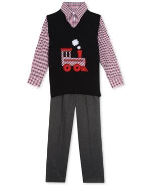 Nautica 3Pc Shirt Sweater Vest  Pants Little Boys (47)