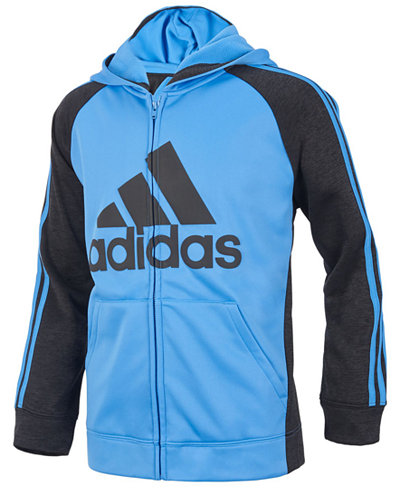 adidas Game Day Hooded Zip-Up Jacket, Little Boys