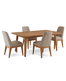 Martha Stewart Collection Brookline Expandable Dining Furniture, 5-Pc. Set (Dining Table & 4 Side Chairs), Created for Macy's