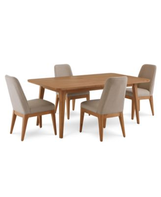 Martha Stewart Collection Brookline Expandable Dining Furniture, 5 Pc. Set (Dining  Table