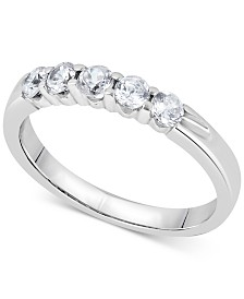 Diamond Five-Stone Ring (1/2 ct. t.w.) in 14k White or Yellow Gold