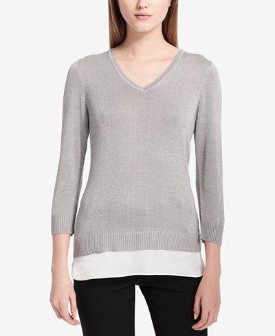 Calvin Klein Faux-Layered Sweater
