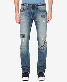 Buffalo David Bitton Men's Evan Slim Straight Fit Stretch Jeans