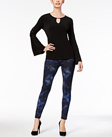 Thalia Sodi Embellished Bell-Sleeve Top & Printed Leggings, Created for Macy's