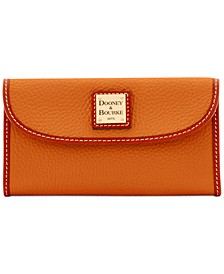 Pebble Leather Continental Clutch