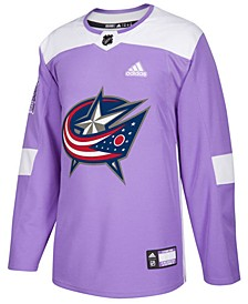 Men's Columbus Blue Jackets Authentic Hockey Fights Cancer Jersey