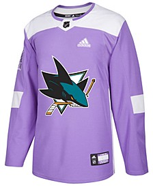Men's San Jose Sharks Authentic Hockey Fights Cancer Jersey