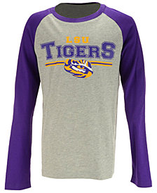 Outerstuff LSU Tigers Field Line Long Sleeve T-Shirt, Big Boys (8-20)