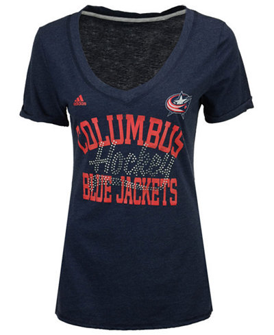 adidas Women's Columbus Blue Jackets Hockey Shine T-Shirt