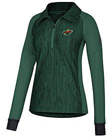 adidas Women's Minnesota Wild Funnel Pullover Jacket