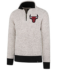 '47 Brand Men's Chicago Bulls Kodiak Tonal Quarter-Zip Pullover