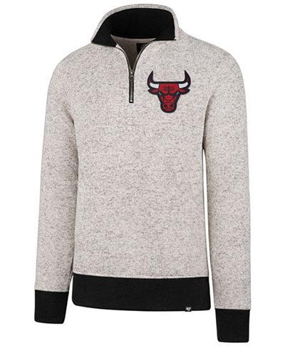 '47 Brand Men's Chicago Bulls Kodiak Tonal Quarter-Zip Pullover