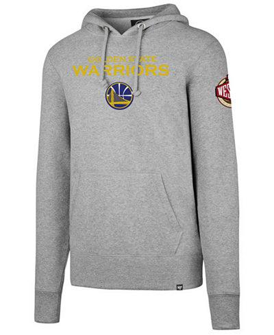 '47 Brand Golden State Warriors NBA Men's Double Double Pullover Hoodie