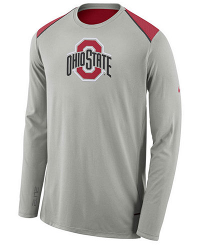 Nike men 39 s ohio state buckeyes basketball long sleeve for Ohio state shirts mens