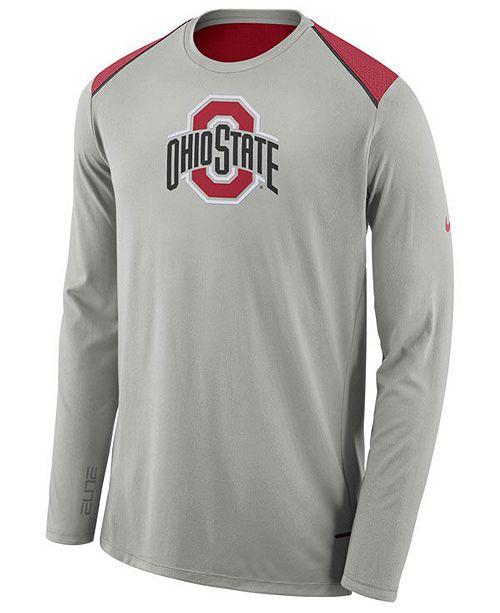 543e4ffc ... Nike Men's Ohio State Buckeyes Basketball Long Sleeve Shooter T-Shirt  ...