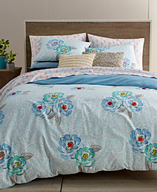 CLOSEOUT! Whim by Martha Stewart Collection Flower Hour 3-Pc. Full/Queen Comforter Set, Created for Macy's