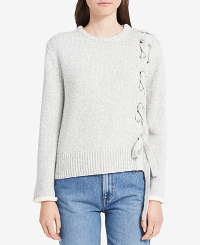 Calvin Klein Jeans Lace-Up Sweater