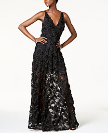 Xscape Floral Lace Gown